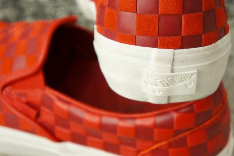 엔지니어드 가먼츠 x 반스 볼트 '엠보싱' 체커보드 슬립온 컬렉션 출시