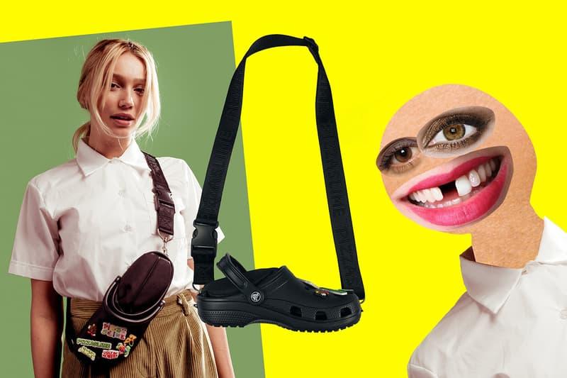 아이디어가 기발한 피자슬라임 크록스 크로스바디 백 슬리퍼 가방