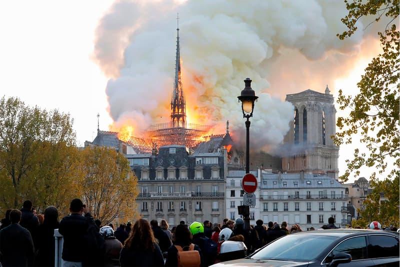 파리의 상징 노트르담 대성당 화재, 각국 지도자들 유감을 표하다 2019 에마뉘엘 마크롱
