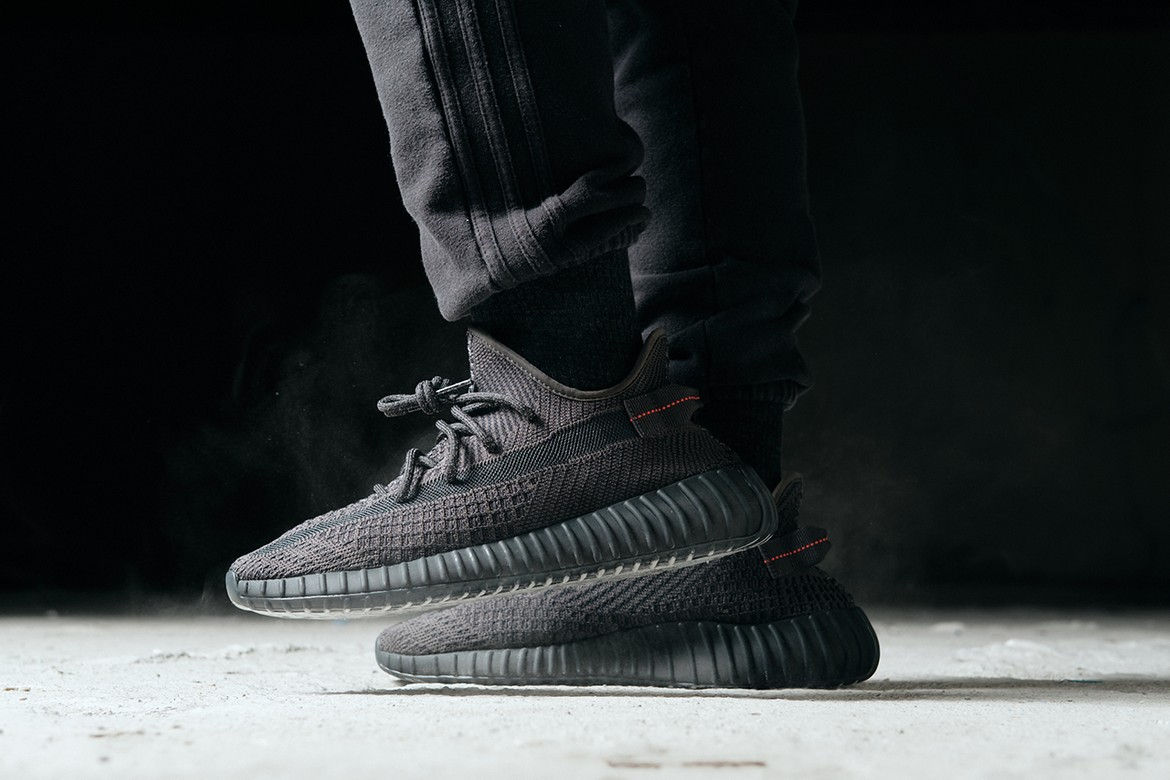 6adbf0bc97455f adidas YEEZY BOOST 350 V2 All-Black On-Foot Look | HYPEBEAST