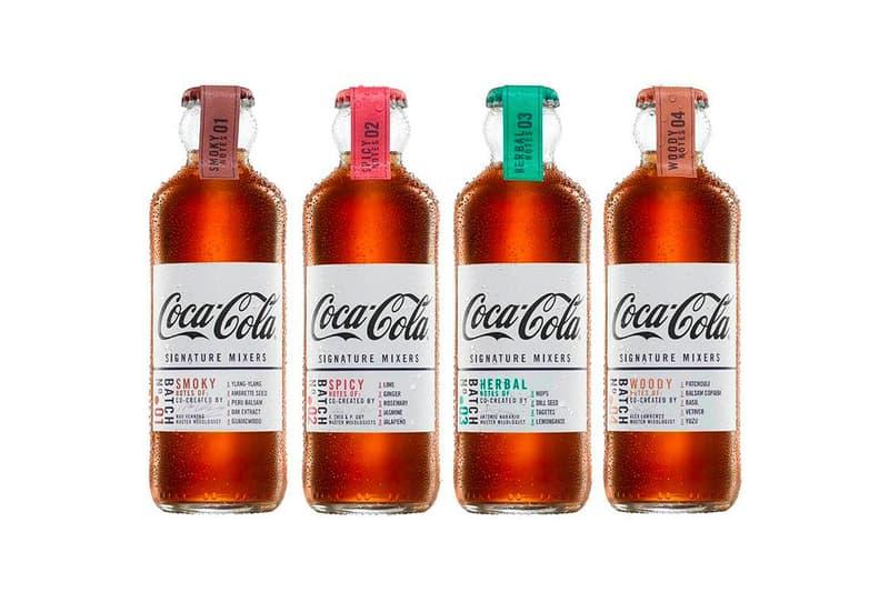 스모키, 스파이시, 우디, 허벌 등 세계 최고 바텐더가 제조한 코카콜라의 시그니처 믹서 시리즈