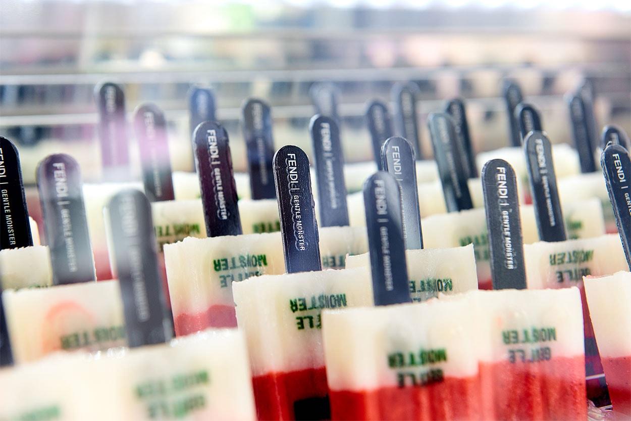 서울 가로수길 젠틀몬스터 펜디 협업 캡슐 컬렉션 선글라스 팝업 카페 커피 케이크