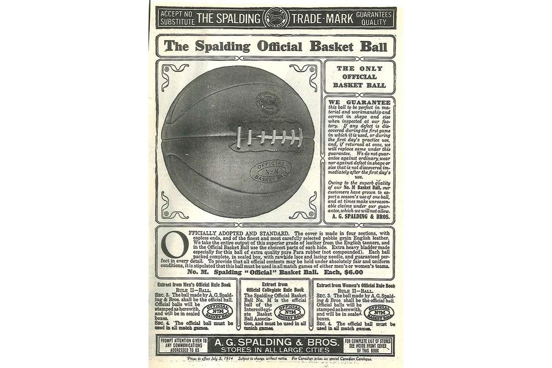 스팔딩 농구공, 농구 탄생 125주년 기념 100년 전 모델 리메이크해