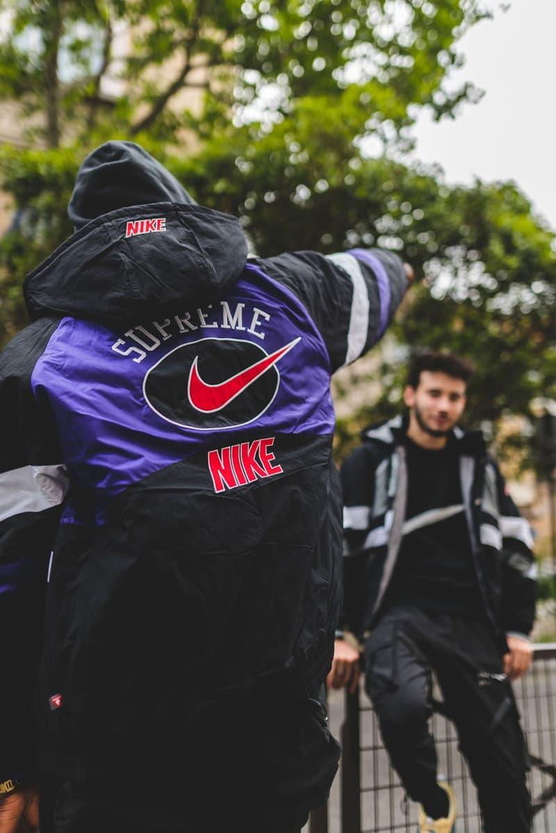프랑스 파리 하입비스트 슈프림 나이키 2019 협업 화보 후디 스웨터 팬츠