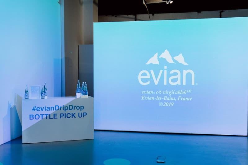 단 하루, 버질 아블로와 에비앙의 한정판 협업을 만날 수 있는 이벤트 정보 미국 뉴욕 레인보우 생수 물병 보틀