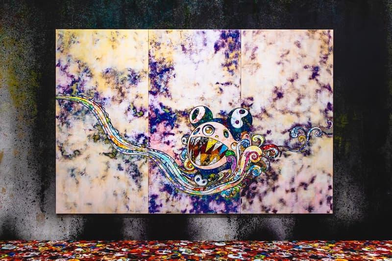 무라카미 다카시의 '무라카미 vs 무라카미' 홍콩 전시 현장 스케치 타이 쿤 컨템포러리