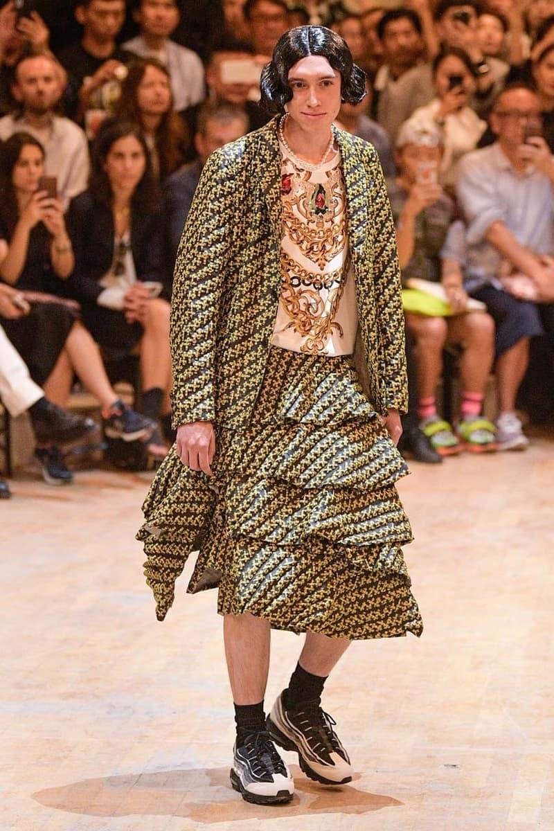 꼼데 가르송 옴므 플러스 x 나이키 협업 에어맥스 95, 파리 패션위크 착용 사진 2020 봄, 여름 컬렉션