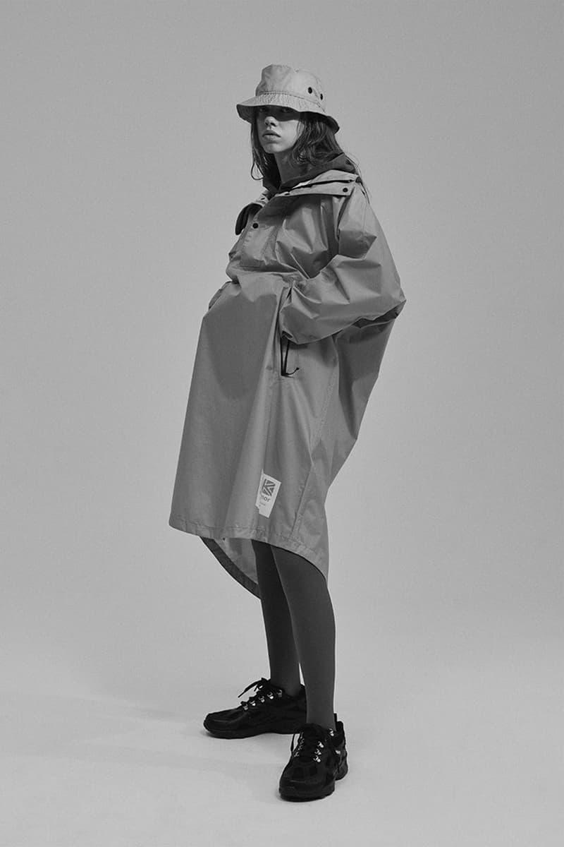 카리모어 재팬 2019 SS '슈게이징' 컬렉션 룩북, 레인코트, 블레이저, 판초, 러기지, 토트백