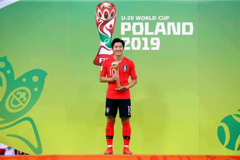 U-20 월드컵 이강인, 한국 남자 선수 최초로 피파 주관 골든볼 수상