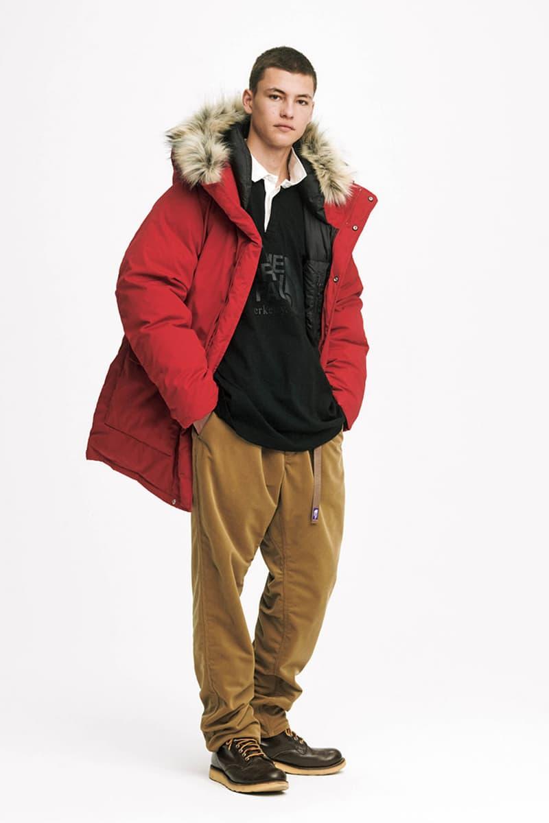 노스 페이스 퍼플 라벨의 2019 가을, 겨울 컬렉션 룩북 및 발매 정보 마운틴 윈드 파카 데날리 플리스 재킷