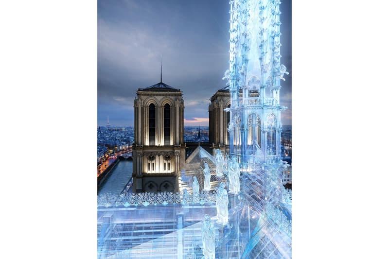 애플 스토어 디자이너 노트르담 대성당 첨탑 화재 재건 방식 구조용 유리
