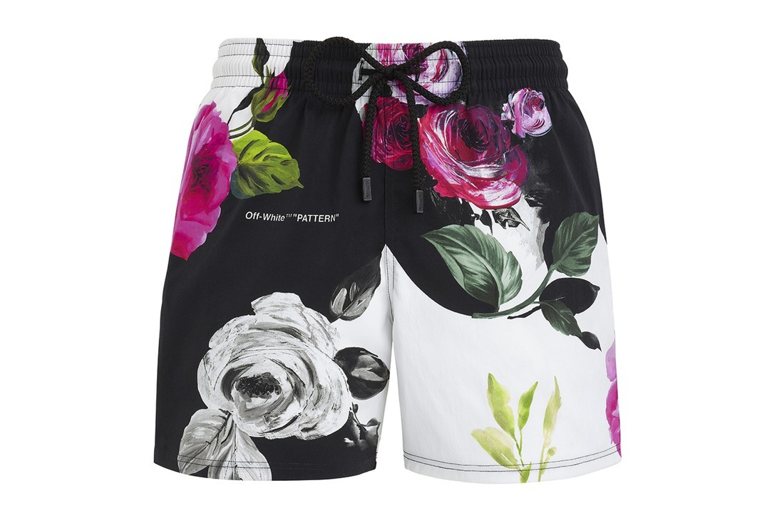 오프 화이트 빌브레퀸 캡슐 컬렉션 스윔웨어 남자 수영복 여름 휴가