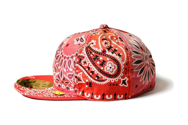 페이즐리 반다나를 입은 캐피탈 베이스볼 캡 5종, 스마일리 로고, 스냅백, 모자