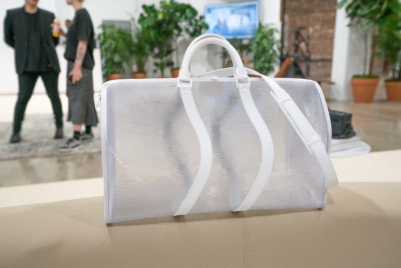 버질 아블로의 루이 비통 2020 봄, 여름 멘즈 프리 컬렉션 미리보기 투명 가방 신발