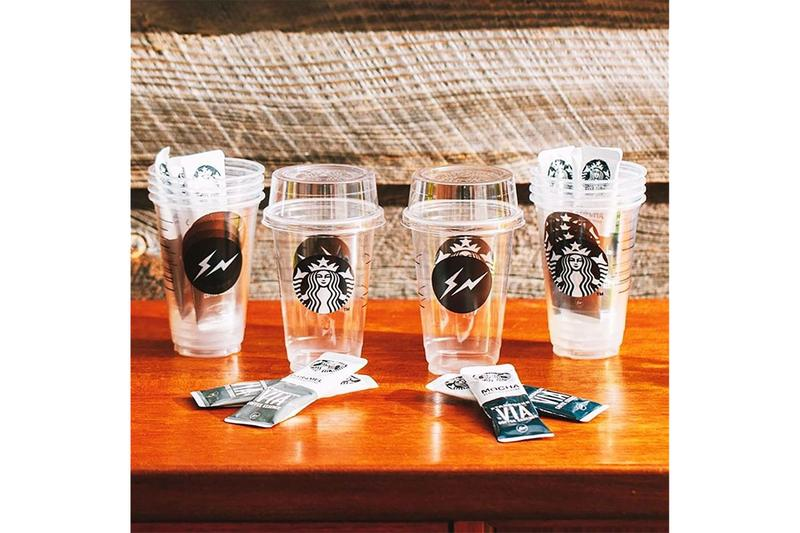 스타벅스 x 프라그먼트 디자인, 번개 로고가 새겨진 일회용 컵 공개, 후지와라 히로시