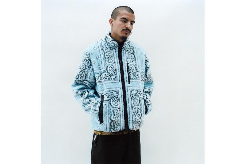슈프림 2019 FW 컬렉션 룩북, 인도 및 아시아 이미지를 새긴 재킷, 후디, 티셔츠