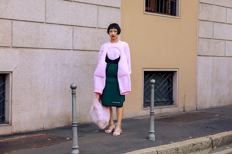 2020 봄, 여름 밀라노 패션위크 스트리트 스냅 및 스타일링, 에이셉 라키, 선미, 루카 사바트