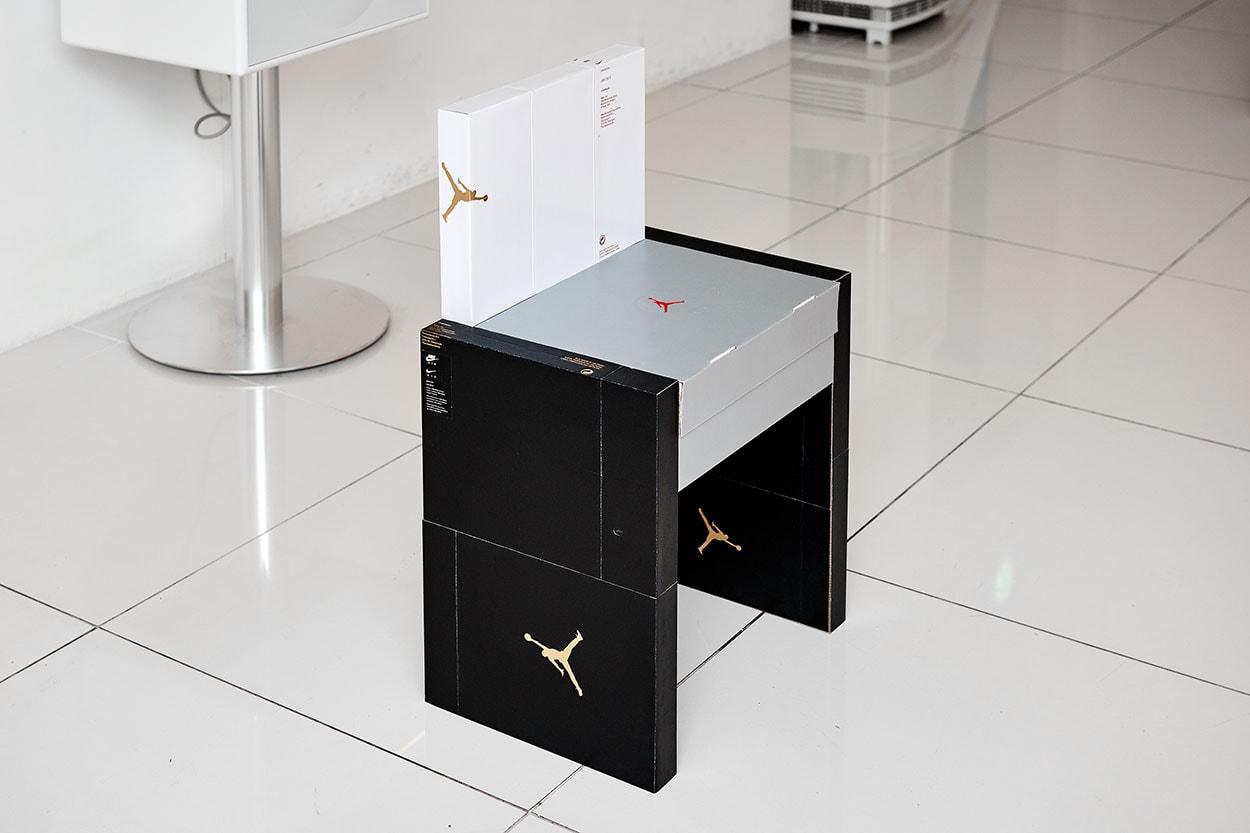 이규한 작가의 'ON MY SEAT' 전시 정보, 나이키 신발 상자로 가구 제작하다