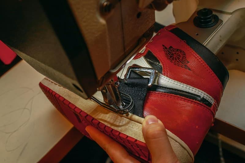 마이클 조던의 발목 부상을 위해 특수 제작된 에어 조던 1 시카고 커스텀 서비스