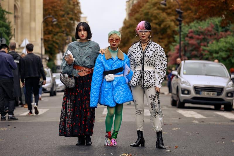2020 봄, 여름 파리 패션위크 화보, 스트리트 스타일링, 오프 화이트, 발렌시아가, 메종 마르지엘라, 마린 세레