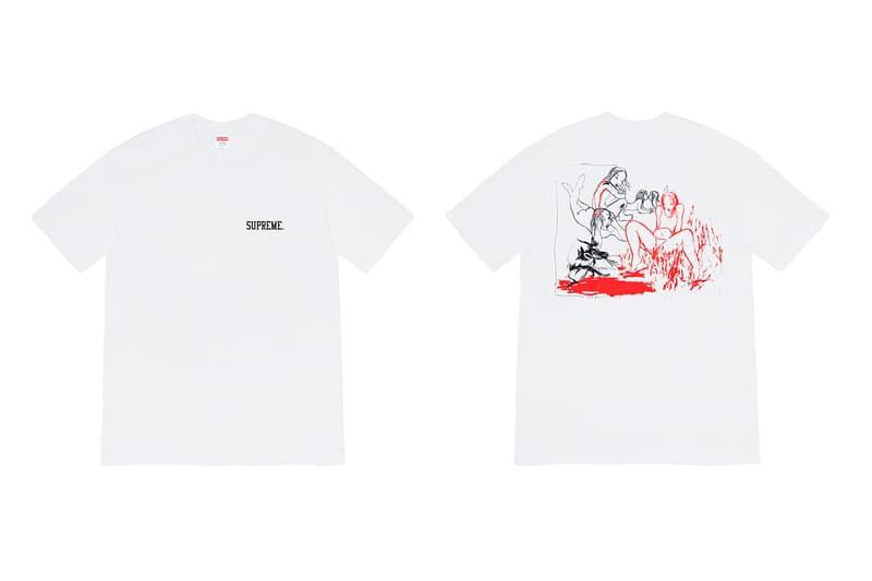 슈프림 2019 가을 티셔츠 컬렉션 출시, 리타 아커만, 카무플라주, 스케이트, 협업