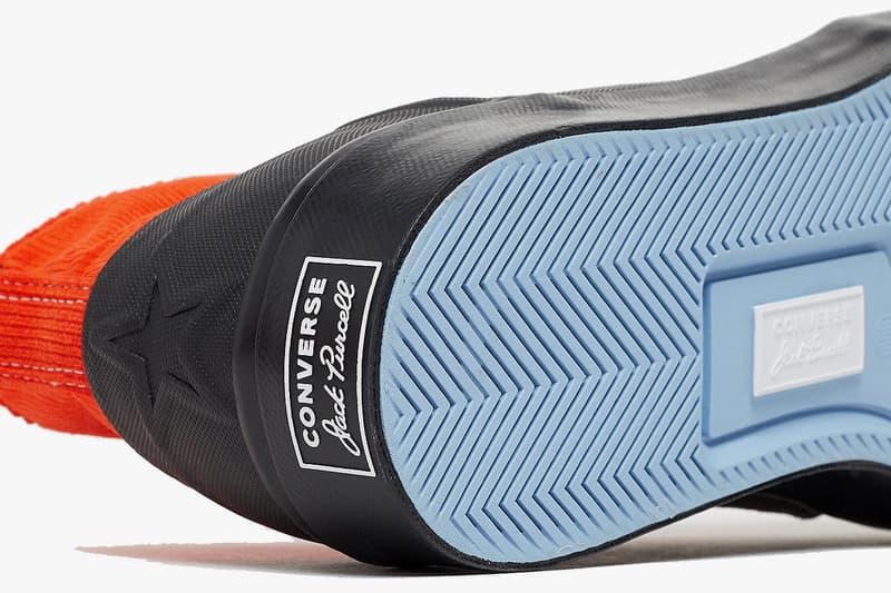 에이셉 네스트 x 컨버스 협업 불꽃 문양 잭 퍼셀 출시, 블랙 및 레드 컬러 모델