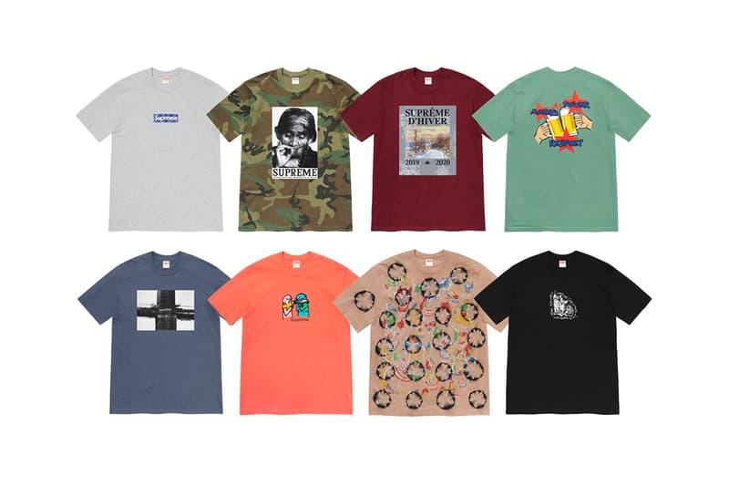 슈프림,  반다나 박스 로고 티셔츠가 포함된 2019 겨울 티셔츠 컬렉션 출시