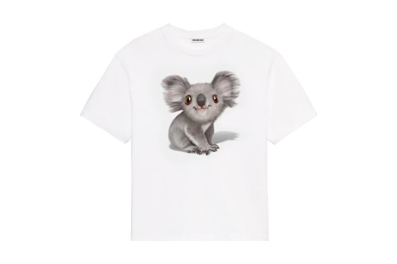 호주 산불 재해 후원 모금을 위한 발렌시아가의 티셔츠와 후디