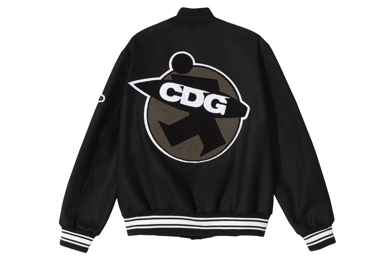 꼼데가르송의 CDG x 스투시 탄생 40주년 기념 협업 바시티 재킷 발매 정보 및 이미지