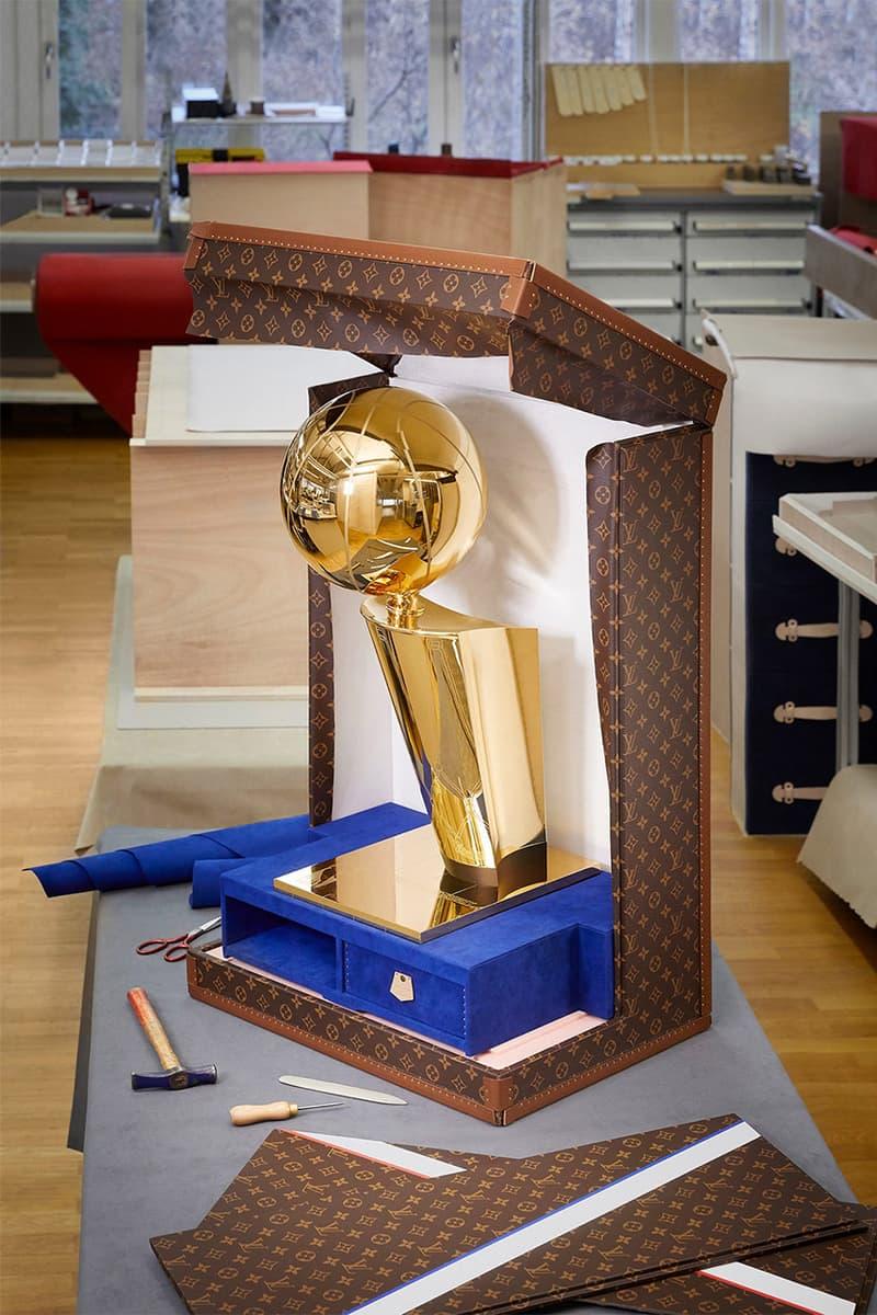 루이비통 x NBA 파이널 챔피언십 트로피 케이스 공개, 래리 오브라이언 트로피