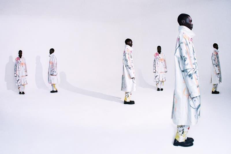 오프 화이트 x 퓨추라, 아트 워크로 뒤덮인 협업 컬렉션 룩북 공개, 셋업 슈트, 트렌치코트