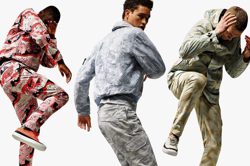 스톤 아일랜드, 2020 SS 데저트 카무플라주 컬렉션 출시, 재킷, 버킷햇, 후디