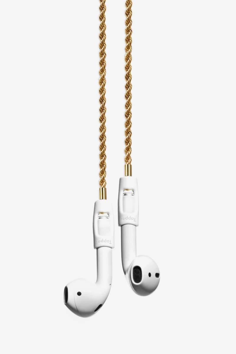 테퍼, 금과 은으로 만들어진 에어팟 전용 스트랩 출시, 분실, 스트랩, 에어팟 프로, 에어팟 2, 에어팟, 24K