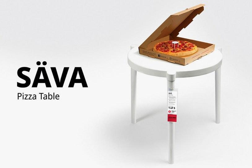 이케아 x 피자헛, '피자 세이버' 테이블 출시, 탁자, 피자 탁자, 실물 사이즈
