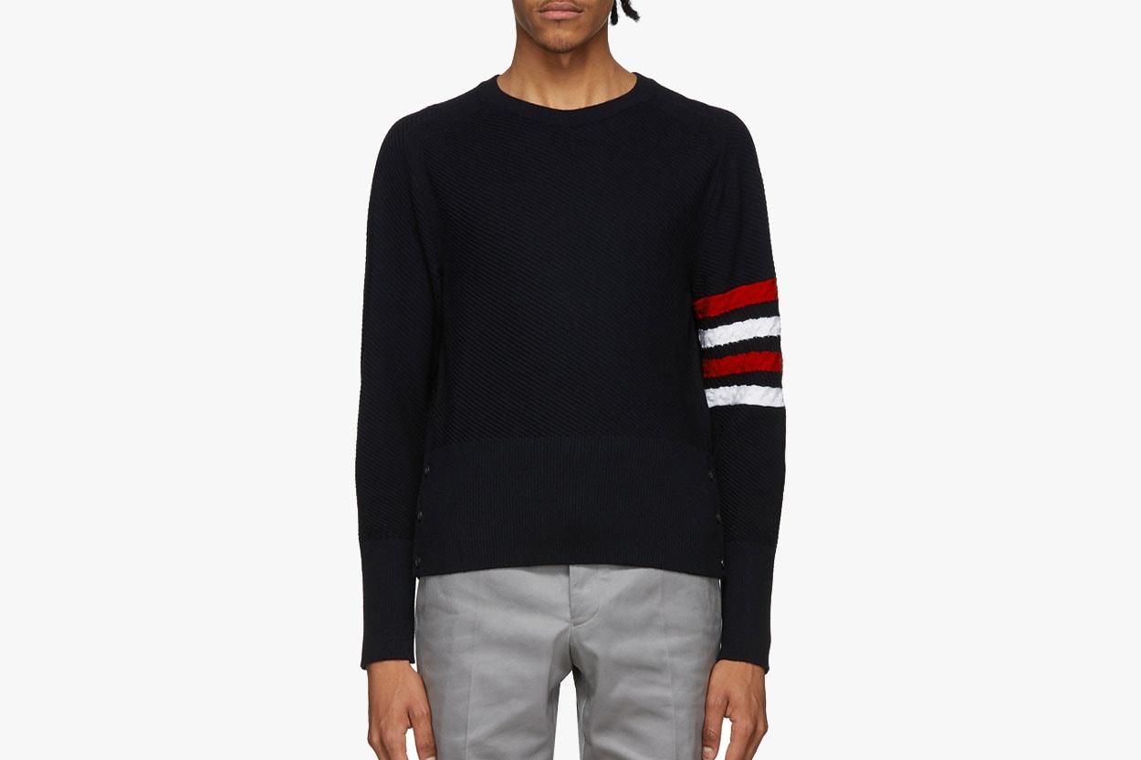 폴로 랄프 로렌부터 라프 시몬스까지, 그래픽과 패턴이 돋보이는 봄철 스웨터 추천 10, 에임 레온 도르, 버버리, 아크네 스튜디오