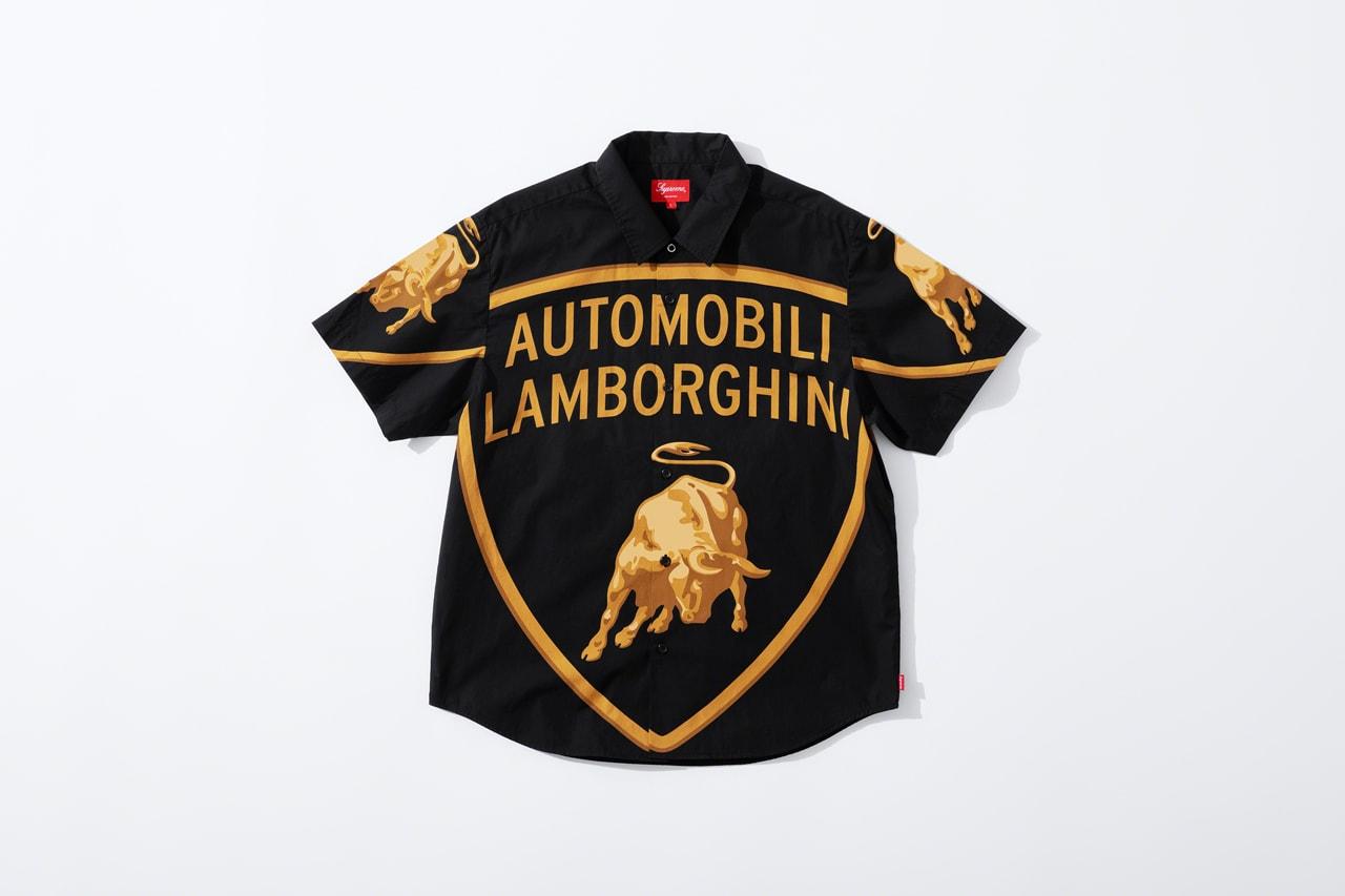 슈프림과 오토모빌리 람보르기니의 협업 컬렉션, 제품군 & 발매 정보