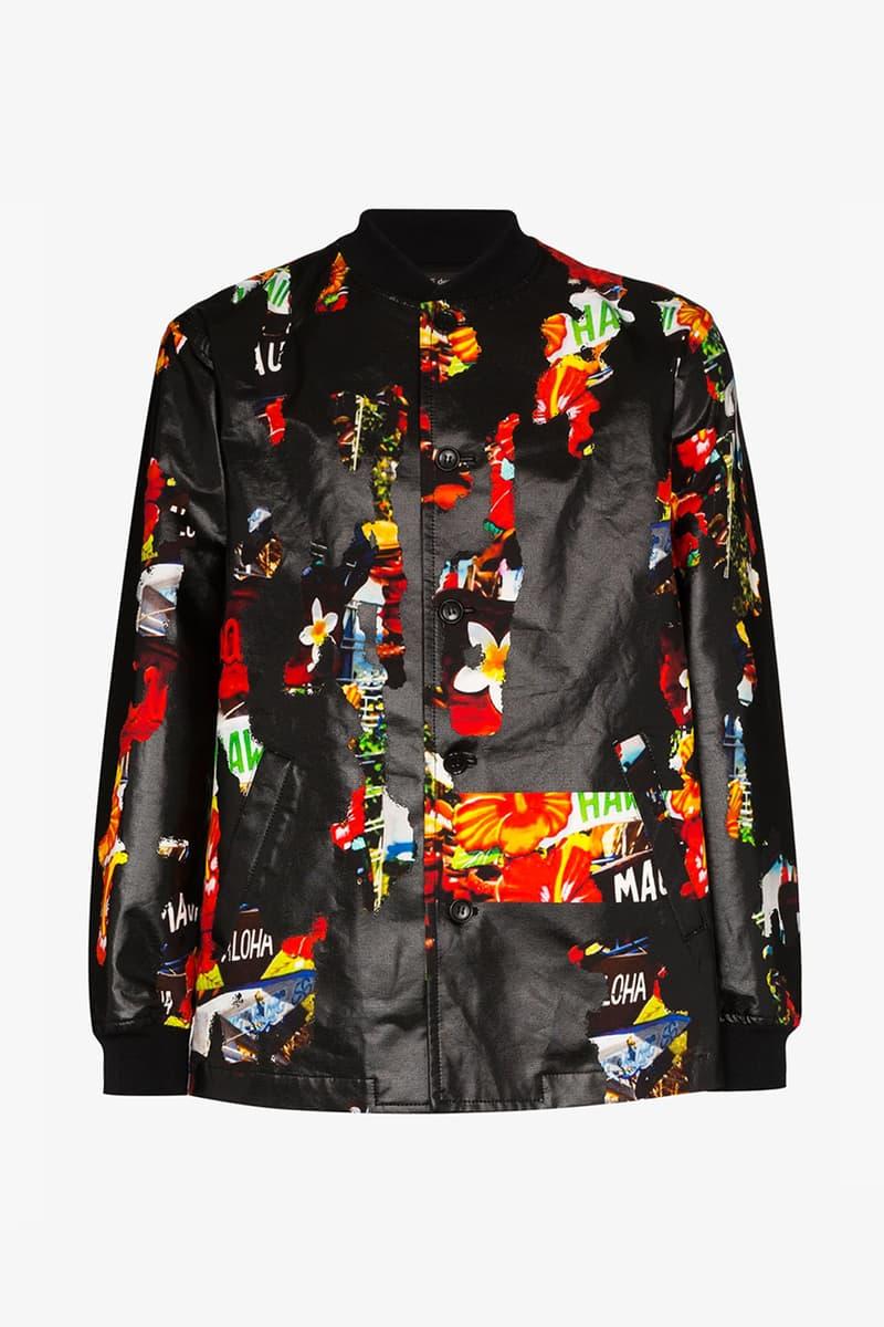 꼼데가르송 옴므 플러스, 2020 SS 하와이언 프린트 봄버 재킷 출시, 브라운스