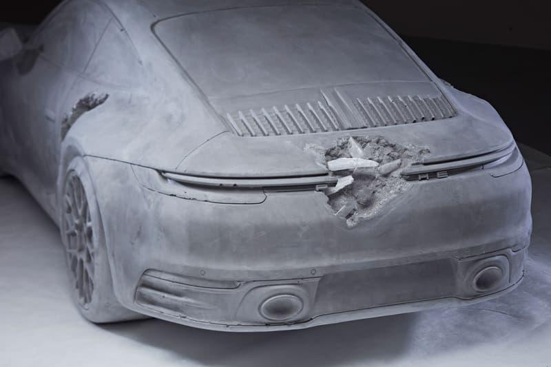 다니엘 아샴, 화산재 속에서 발굴한 듯한 포르쉐 911 조각상 공개, K11 뮤제아, 퓨처 렐릭 시리즈