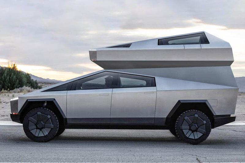 캠핑카 버전으로 디자인된 테슬라 '사이버트럭' 렌더링 이미지 공개, 일론 머스크