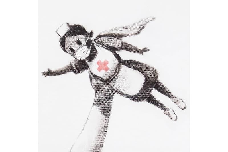 뱅크시, 코로나19 의료 봉사자를 위한 새로운 작품 공개, 코로나바이러스, 그래피티