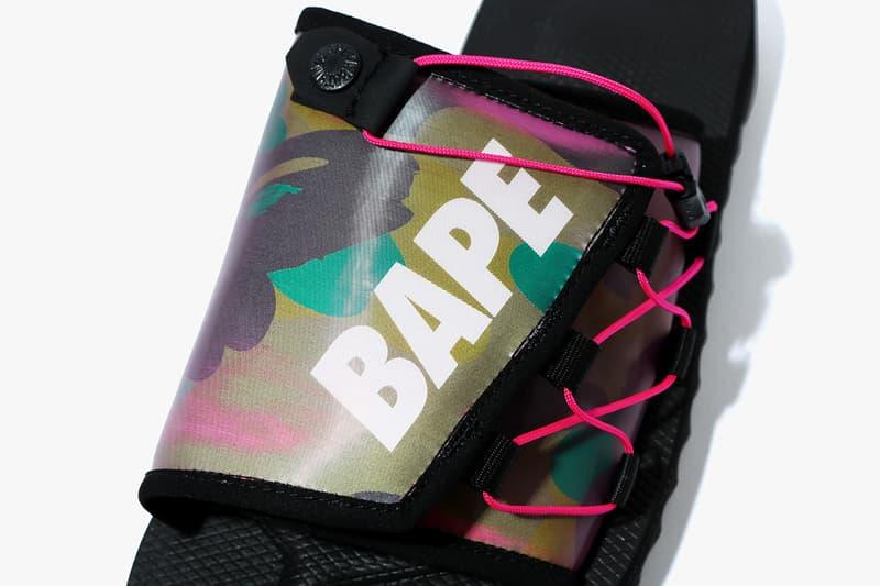 베이프와 수이코크의 홀로그램 어퍼 협업 샌들, 여름 신발, 스니커, 베이싱 에이프