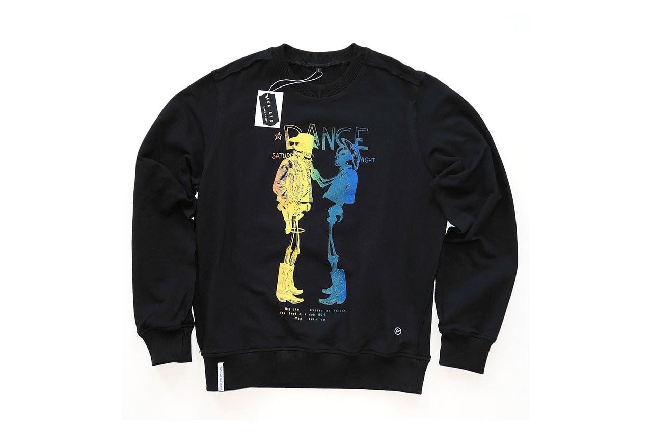프라그먼트 디자인 x 아카 식스, 섹스 피스톨스로부터 영감을 받은 협업 컬렉션 공개, 제이미 리드, 스웨트셔츠, 티셔츠