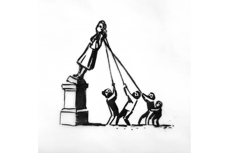 뱅크시, 브리스톨의 에드워드 콜스톤 동상 관련 새로운 작품 공개, 블랙 라이브즈 매터, BLM, Black Lives Matter, 흑인인권운동