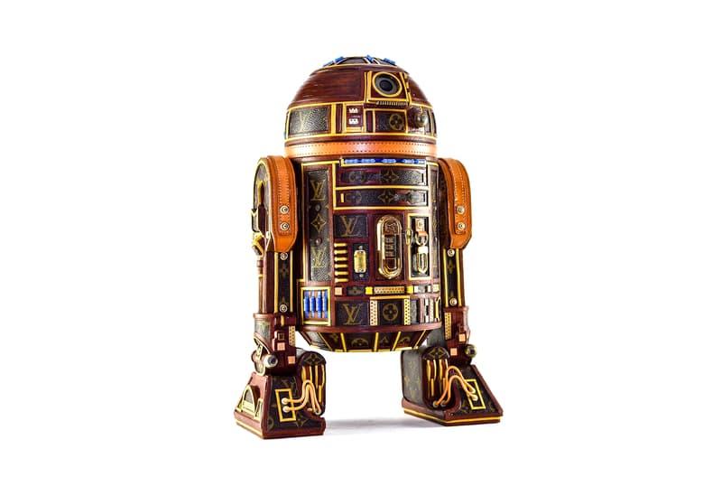 루이 비통 모노그램 캔버스를 재활용해 만들어진 '스타 워즈' 헬멧 컬렉션, 캡틴 파스마, 만달로리안, 다스 베이더, R2-D2, AT-AT 워커, 업사이클링 아티스트 가브리엘 디쇼