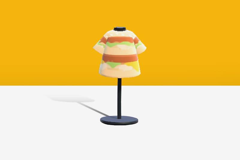 '모여봐요 동물의 숲'에서 맥도날드의 머천다이즈를 입을 수 있다, 빅맥, 후렌치 후라이, 감자튀김, 모동숲, 튀동숲, 닌텐도 스위치, 감튀, 따감튀