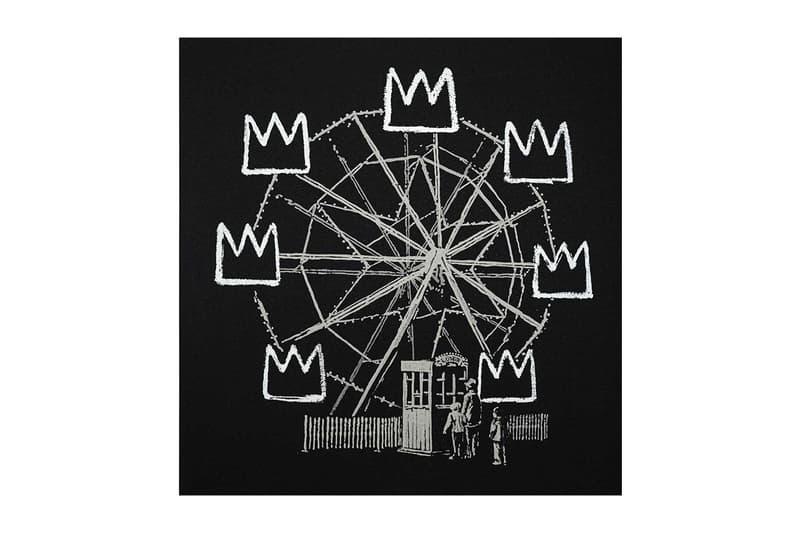 바스키아를 오마주한 뱅크시의 아트워크, '뱅크스키아'가 첫 경매에 올랐다, 그래피티, 미술