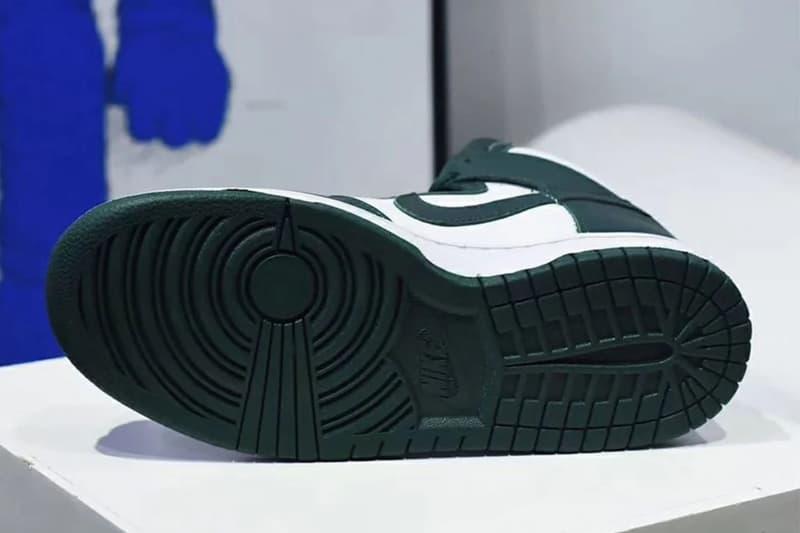 나이키 덩크 하이 SP '프로 그린' 상세 사진 & 출시일, 덩크 로우, 농구화, 스니커, 유행 신발