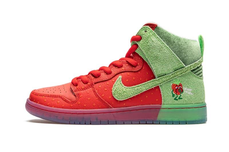 나이키 SB 덩크 '스트로베리 코프'의 상세 사진 최초 공개, 딸기 덩크, 덩하, 캐릭터 신발