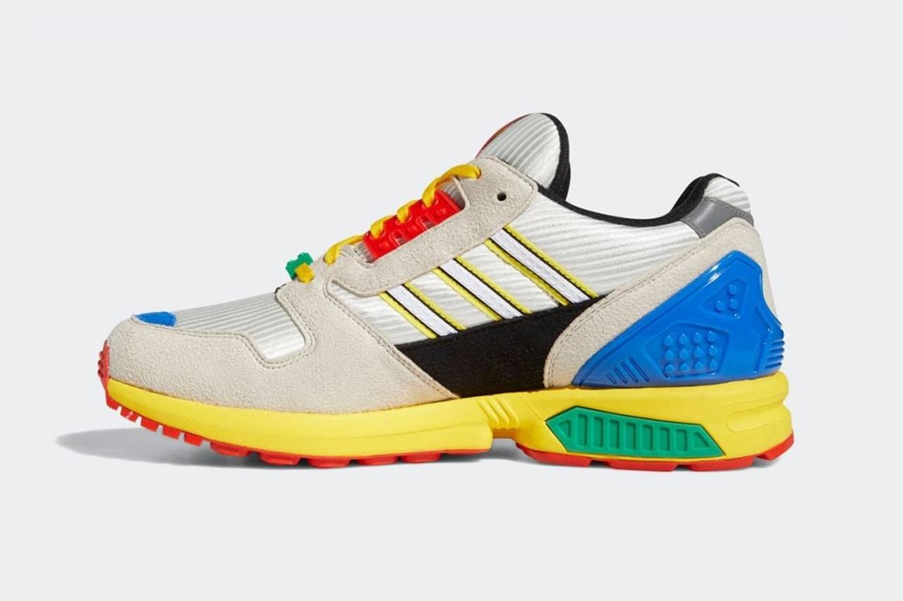 아디다스 오리지널스 x 레고 협업 ZX 8000 공식 이미지, 레고 신발, 스니커, 장난감 스니커, 션 워더스푼