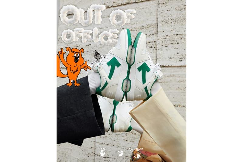 버질 아블로가 디자인한 오프 화이트의 새 스니커, '아웃 오브 오피스' 최초 공개, 유르겐 텔러, 테니스 스니커